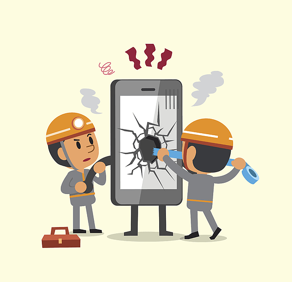 mobile repair vector image