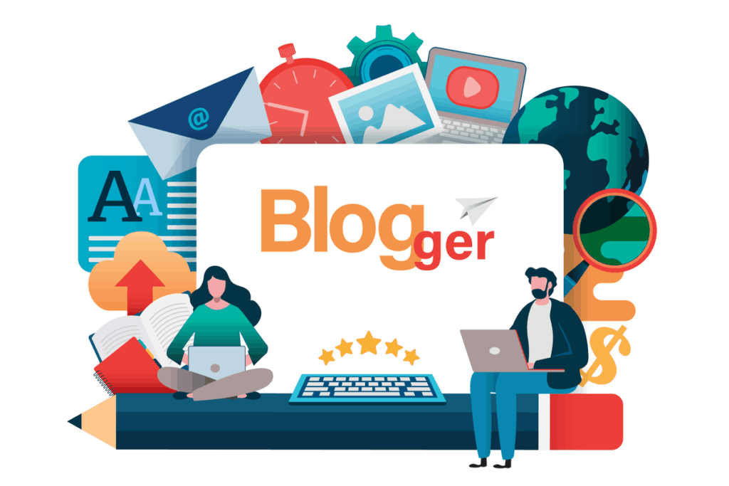 Blogger Graphic Vector PNG | Best Business ideas in India | startup sutra