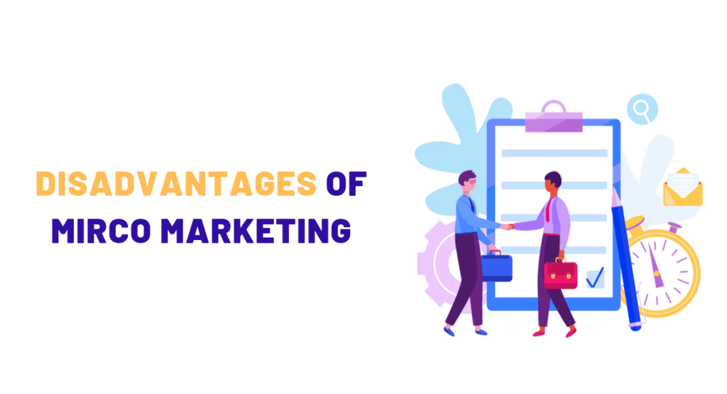 What are the Disadvantages of Micro-Marketing?