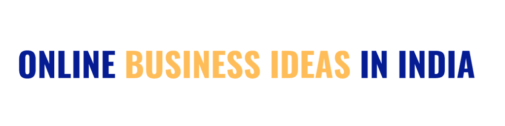 online business ideas in india - heading