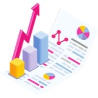 market size growth chart graphic icon