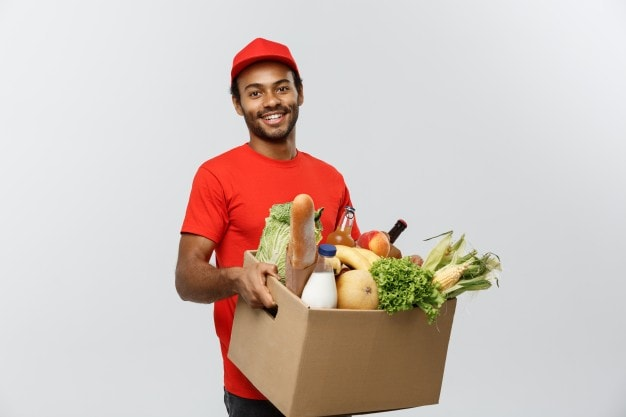 Groceries Delivery Boy - Business Ideas in india - startup sutra